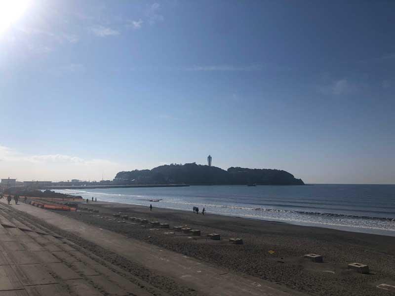片瀬海岸西浜の端は工事中