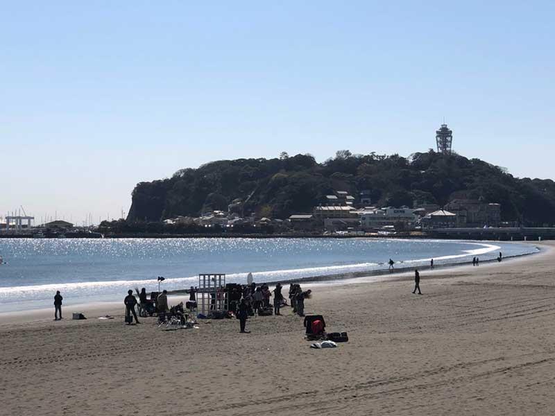 今日の江ノ島は何やらドラマか映画の撮影中