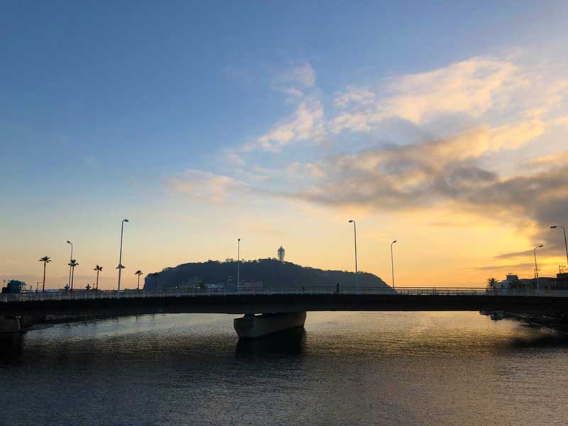 江ノ島の夕焼け