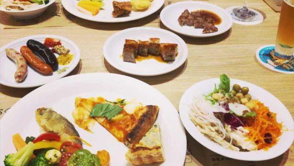 【熱海Fuuaグルメ】HARBOR'S W(ハーバーズダブル)食べ放題ディナーの感想!ステーキ・窯焼きピザ・あわびもライブグリル!