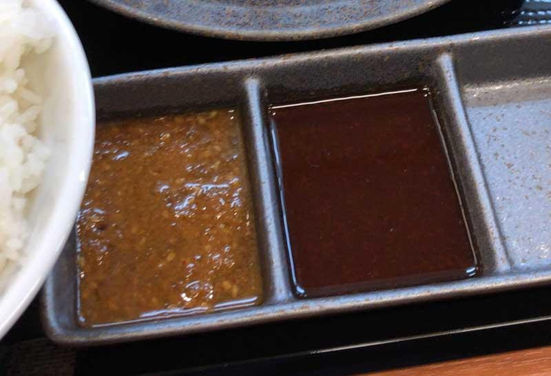からやま特製の唐揚げに合う2種類のタレ