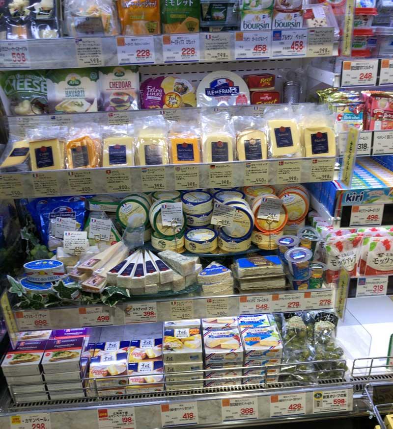 世界のチーズが揃っています