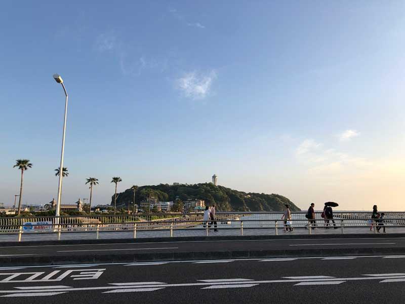 江ノ島の海沿い134号線