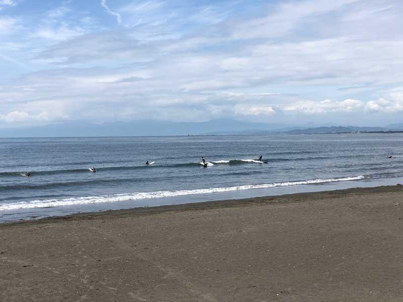 今日は波がけっこうある