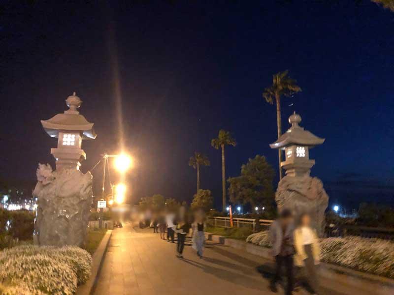 夜の江ノ島へGO