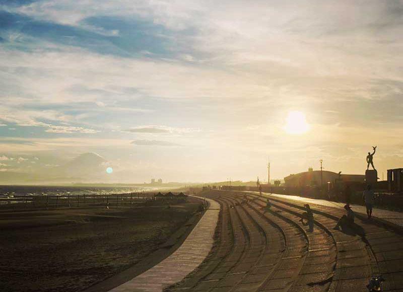 【湘南江ノ島おすすめファン・ランニングコース】海沿いえのすい~サーフビレッジ間が片道ちょうど1キロ!電子マネー自販機&軽食&トイレあり!