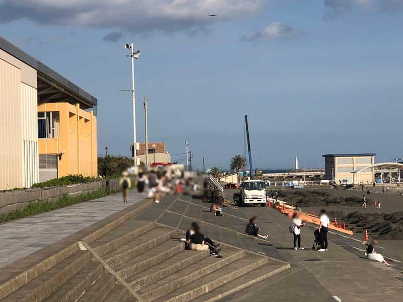 江ノ島と海の絶景スポットも工事の喧噪で居心地悪い