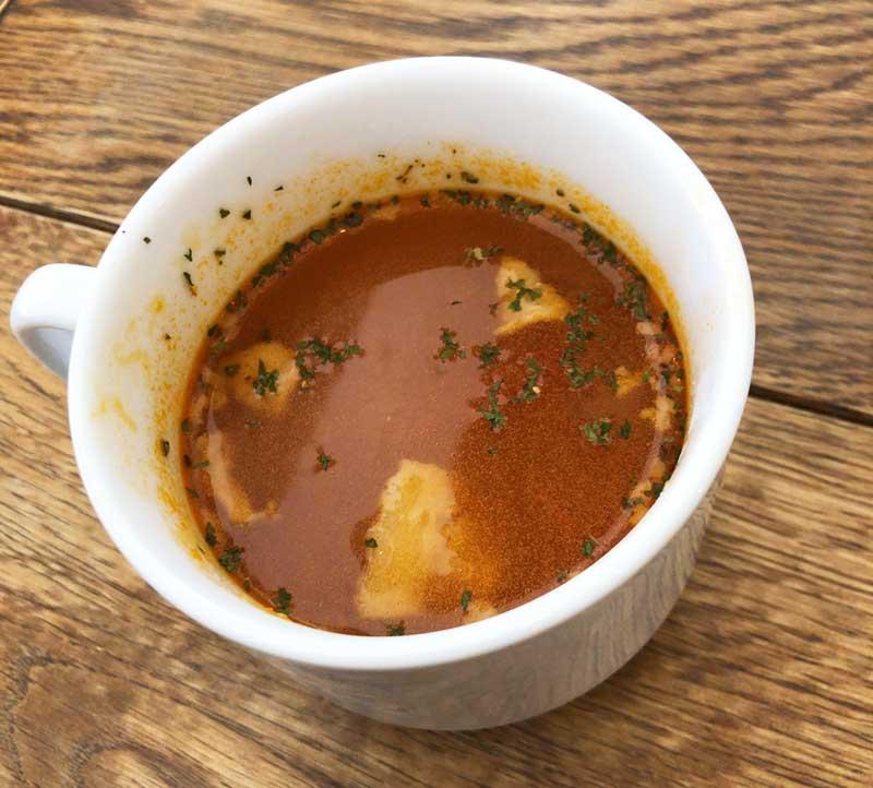 ランチのスープおいしい