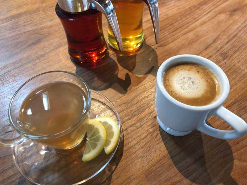 カフェオレと自家製ホットジンジャー
