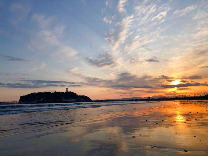 片瀬東浜の夕焼け