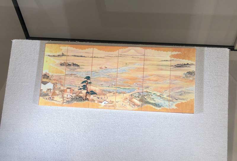 昔の藤沢地域の屏風絵