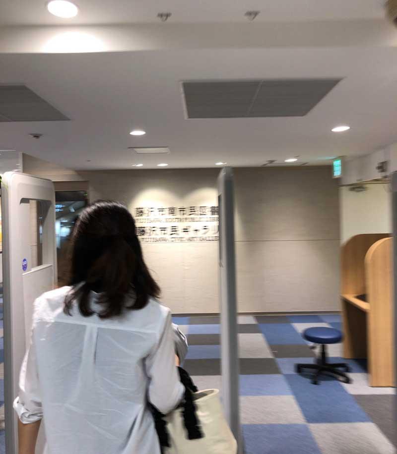 新しい藤沢南図書館の入口