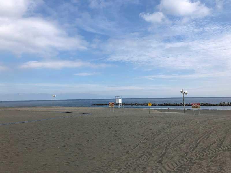 海開き目前の湘南平塚ビーチパーク