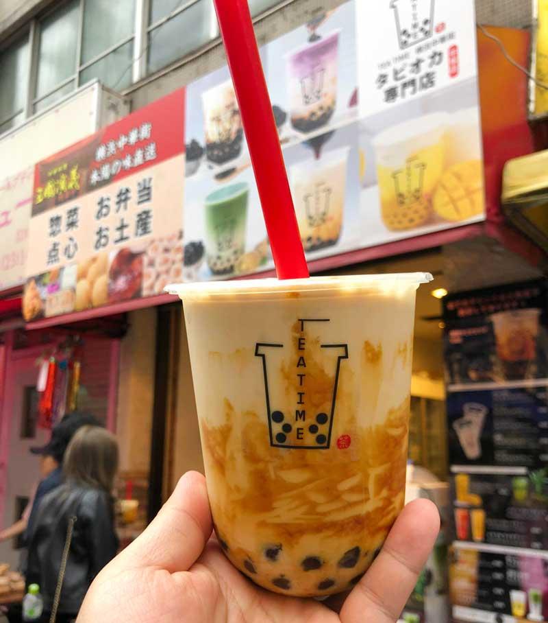 平塚タピオカ専門店「TEA TIME」の黒糖タピオカラテ