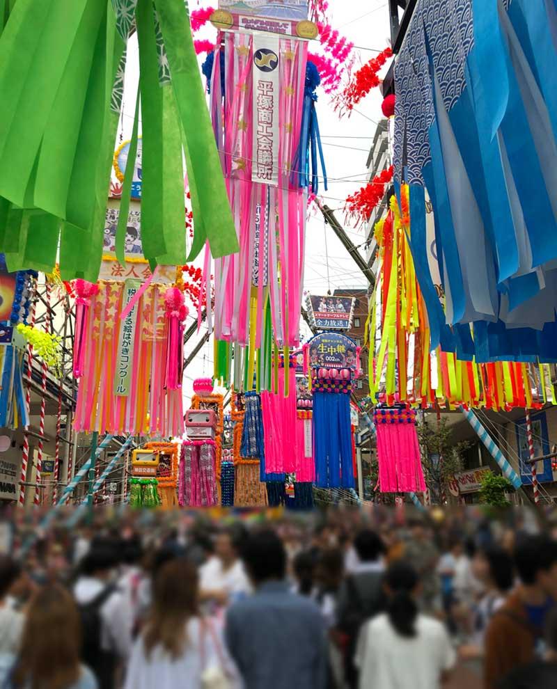 湘南パールロードは大物の飾りが多い