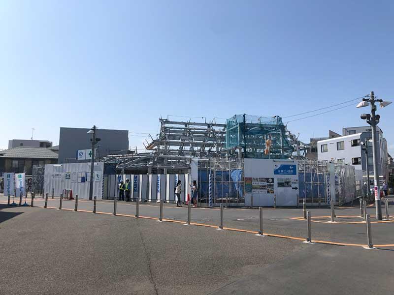 改装工事中の片瀬江ノ島駅