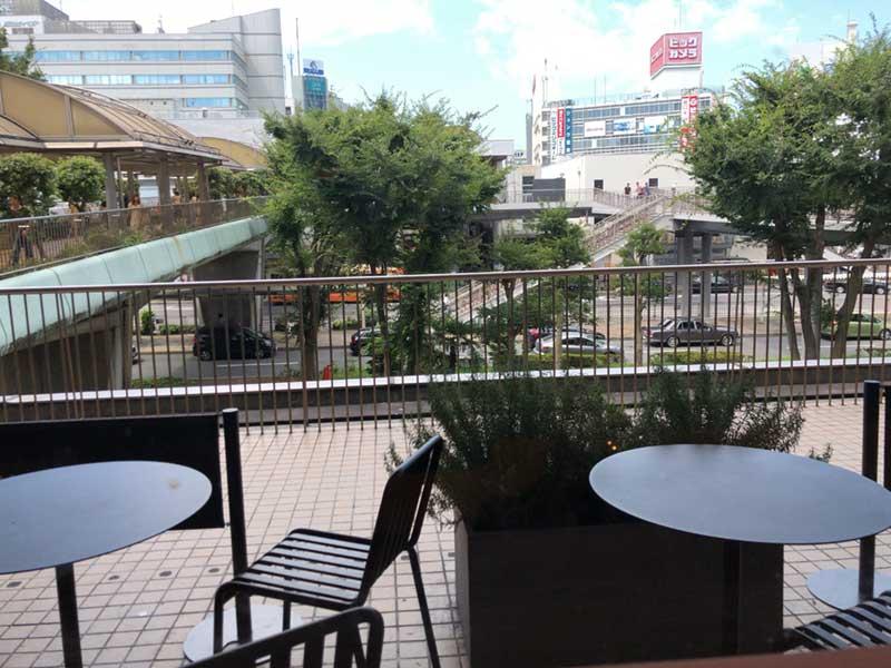 ここから藤沢駅の歩道がよく見える