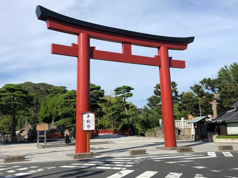 鎌倉八幡宮のすぐ近く