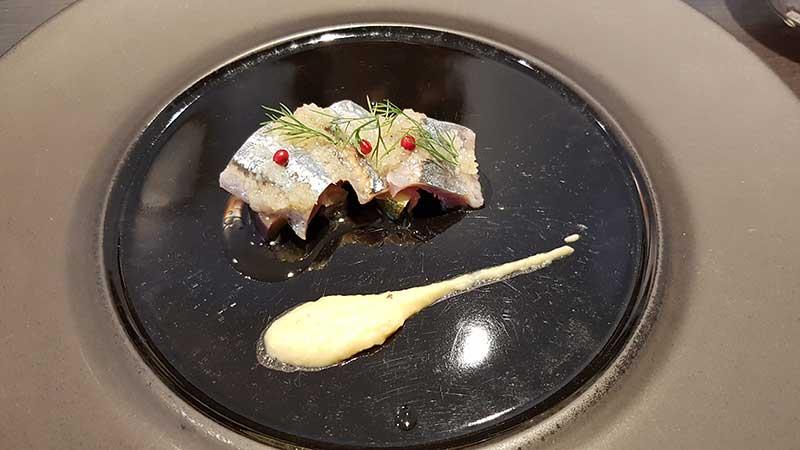 新秋刀魚と野菜のマリネ