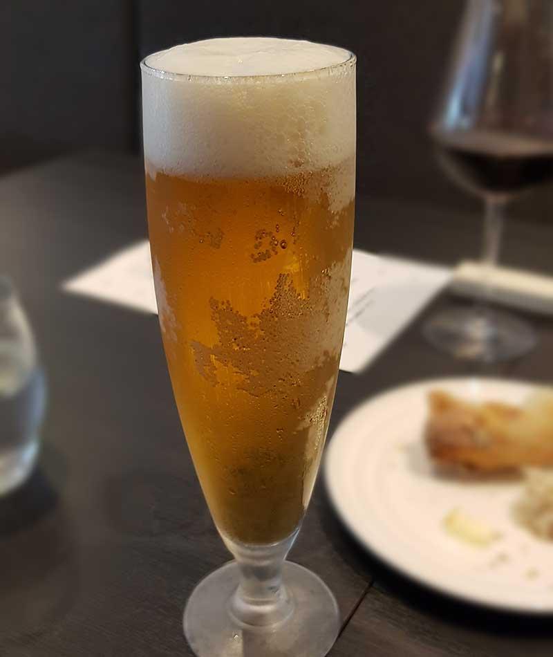 まだ冷たいビール美味しい時節