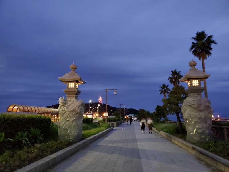 夕方に江ノ島へGO