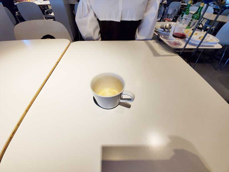 食後のコーヒーも意外と美味しい!