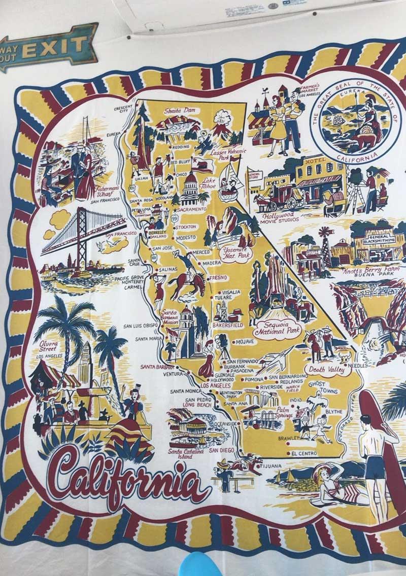 カルフォルニアのイメージマップ