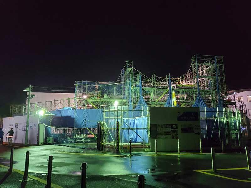 台風直後の片瀬江ノ島駅の様子