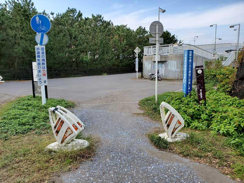 柳島ランニングコースのゴール地点
