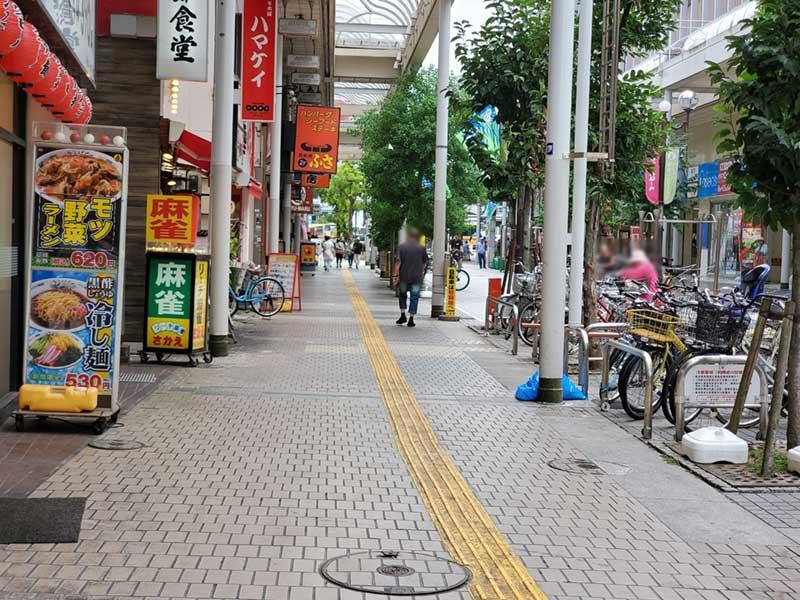 古びた平塚の商店街「紅谷パールロード」