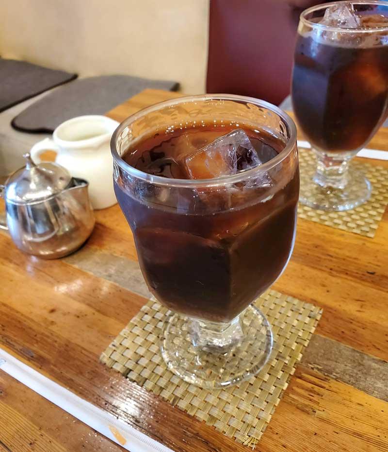 食後のコーヒーも大変美味しい