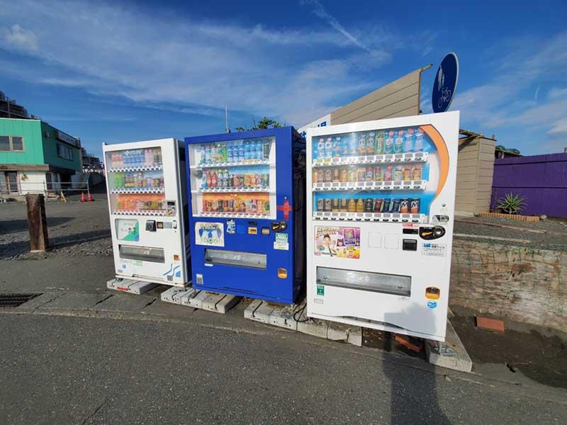 サザンビーチの交通系ICが使える自動販売機