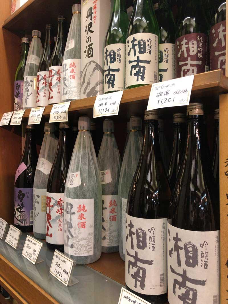 珍しい湘南の地酒もたくさんある