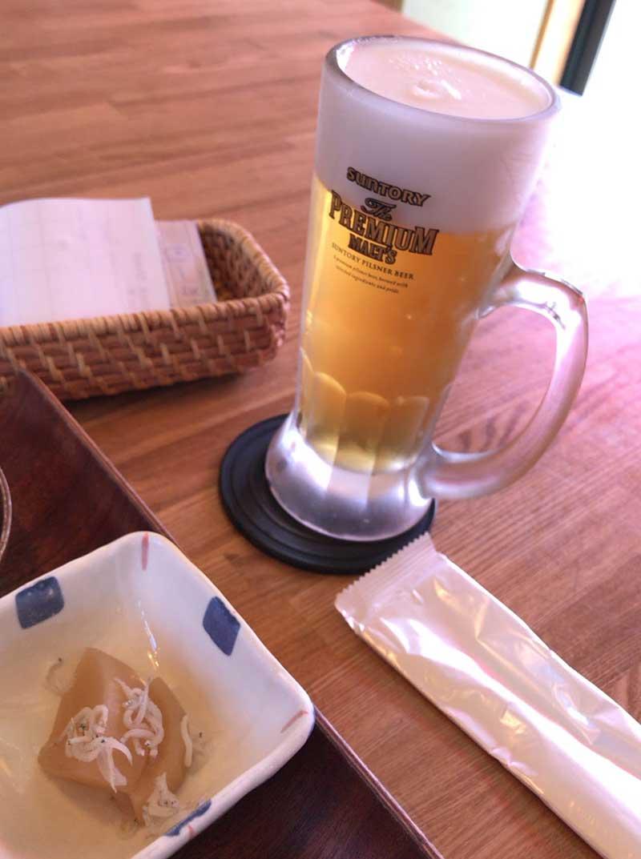 アジフライにはビールでしょう