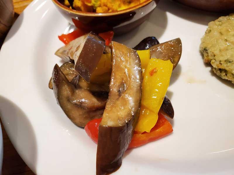 焼きナスとパプリカのバルサミコマリネ