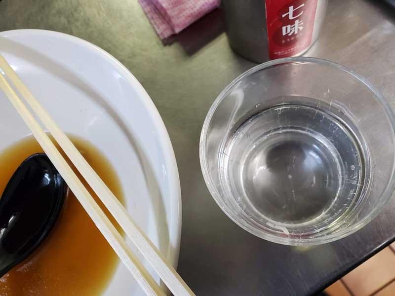 食後の水が旨い