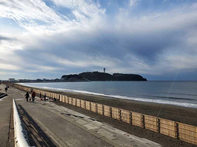 2月の江ノ島海岸