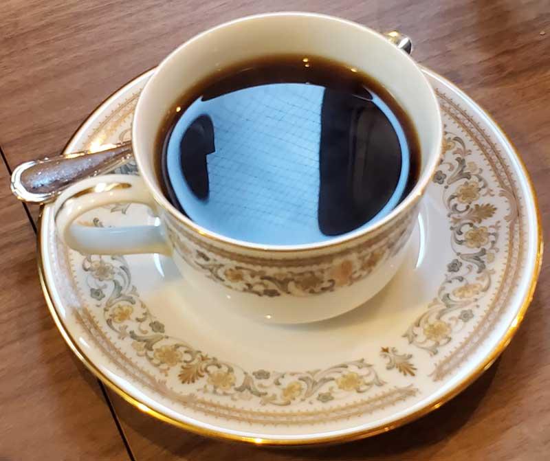 ブラックのコーヒーが合う