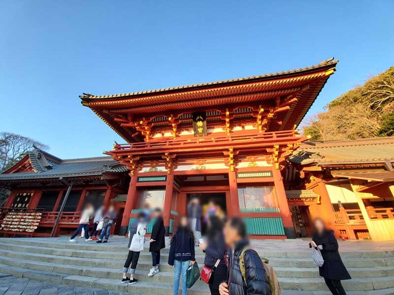 鎌倉八幡宮もマスク率低め