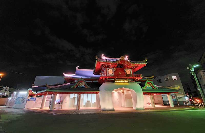 まるで要塞かロボットみたいな片瀬江ノ島駅の夜景