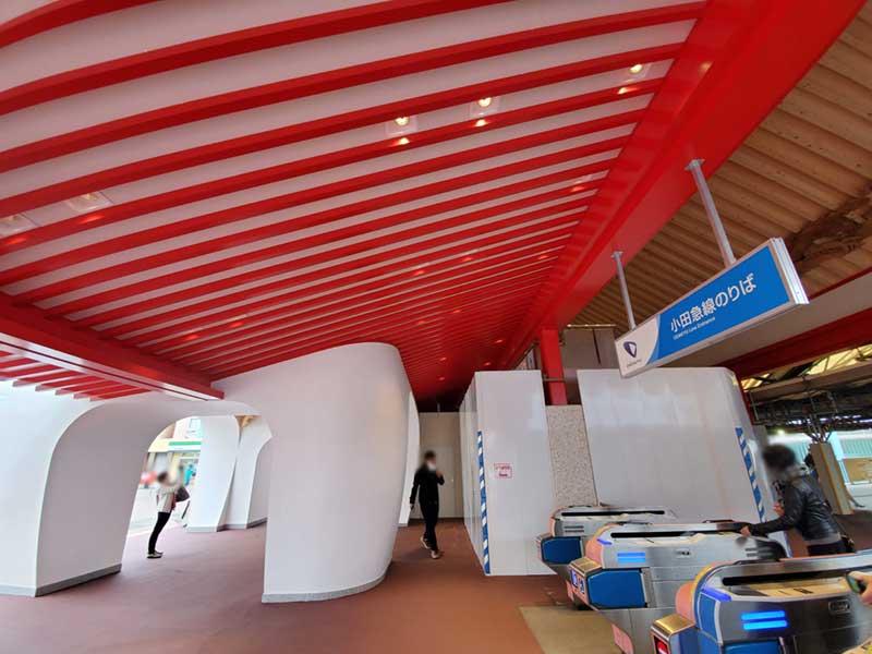 新片瀬江ノ島駅の内部
