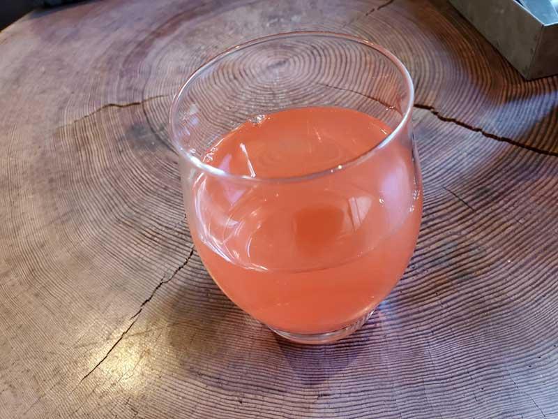 グレープフルーツジュースですっきり