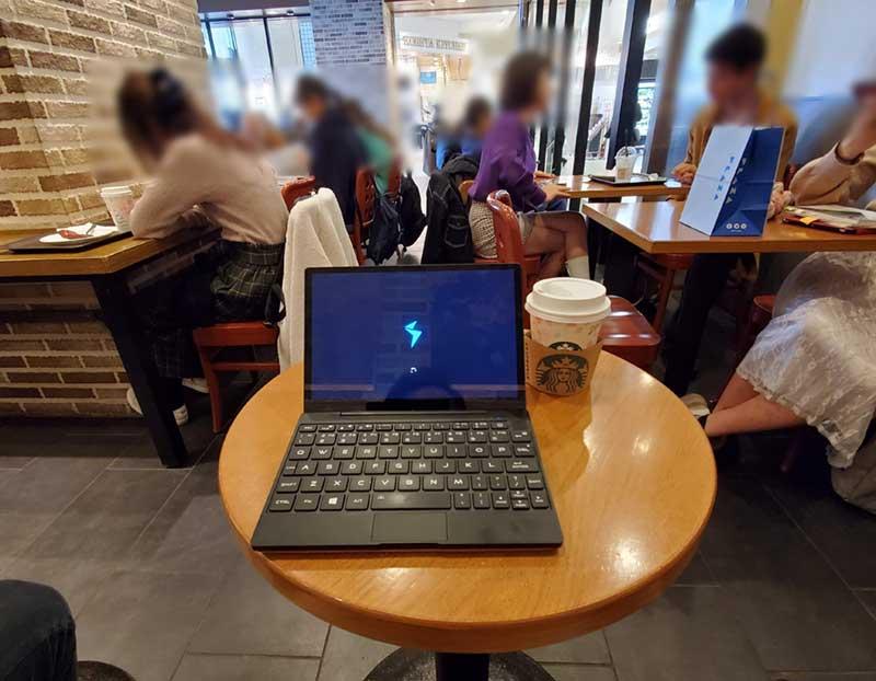 スタバルミネ藤沢店でパソコン仕事