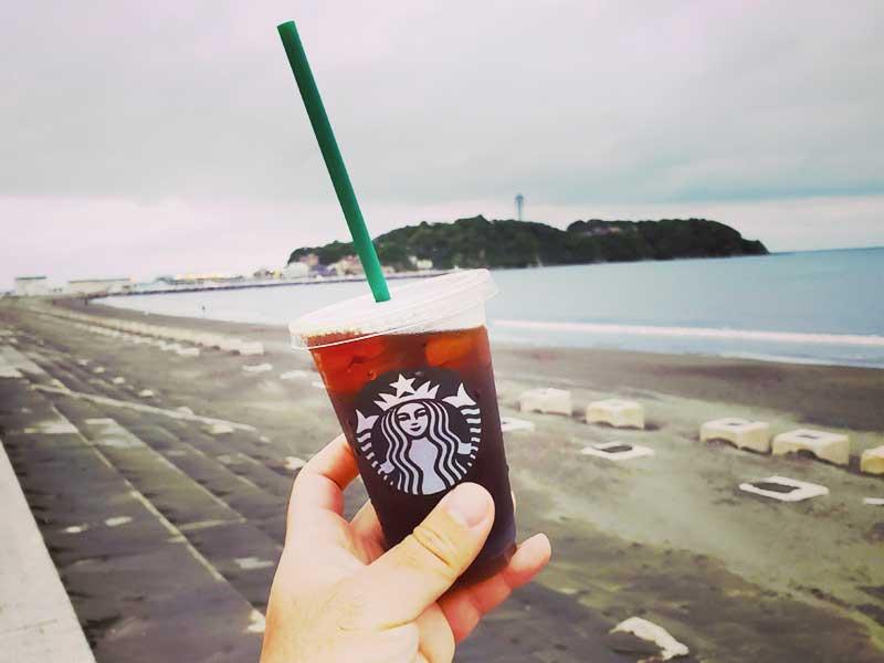 海で飲むコーヒーは格別に美味しい