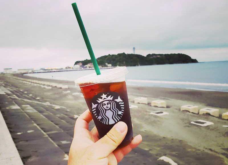【スタバ江ノ島テイクアウト再開】行列も距離を保って安全に。コーヒー豆やグッズも買えます!
