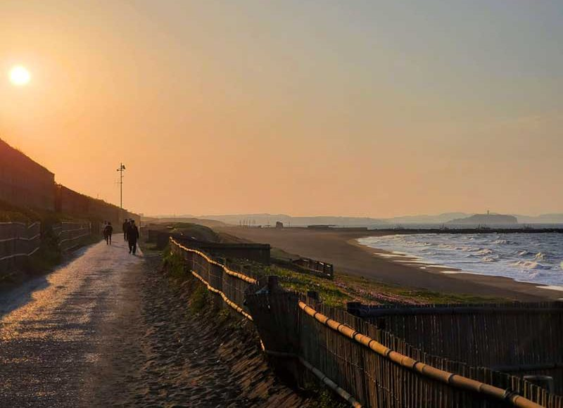 【2020年GWの柳島~鵠沼海岸サイクリングコース】人と砂山で自転車は無理!