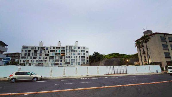 【NEW江ノ島ホテル計画】片瀬海岸東浜海水浴場前に新しいホテル建設中