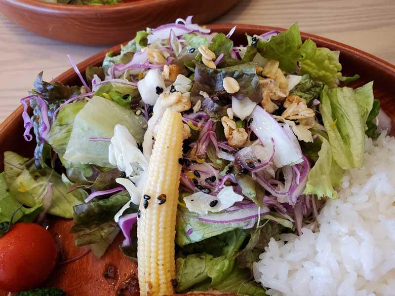 DISHERSはサラダの豪華さも特徴だとか