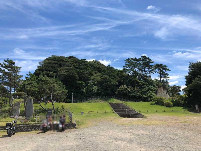 穴場の紫陽花スポットの稲村ケ崎公園