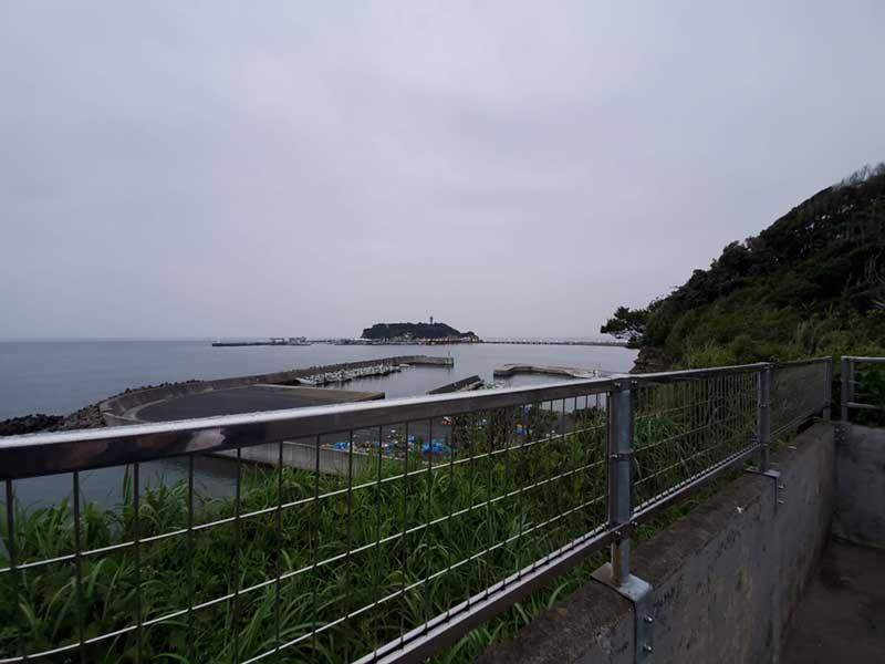 江ノ島が見える眺望
